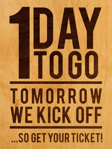 1 DAY TO GO1
